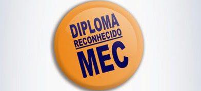 Diploma de faculdade reconhecido pelo MEC